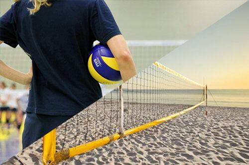 Unterschiede zwischen Hallenvolleyball und Beachvolleyball